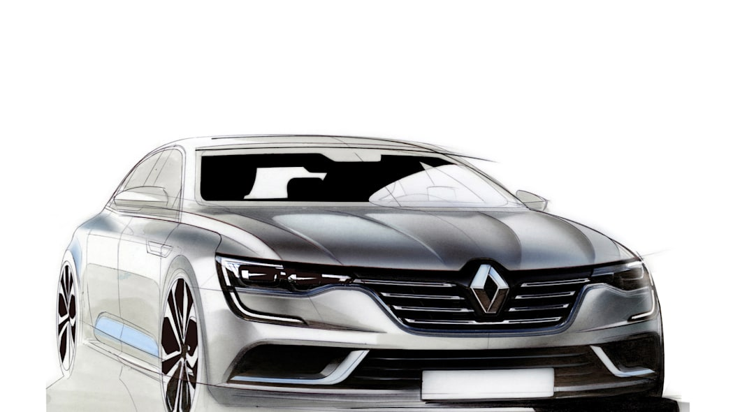 renault talisman sketch design drawing