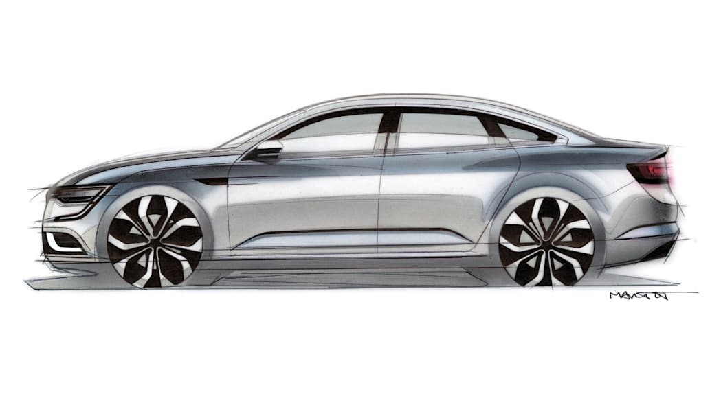 sketch design drawing renault detail talisman