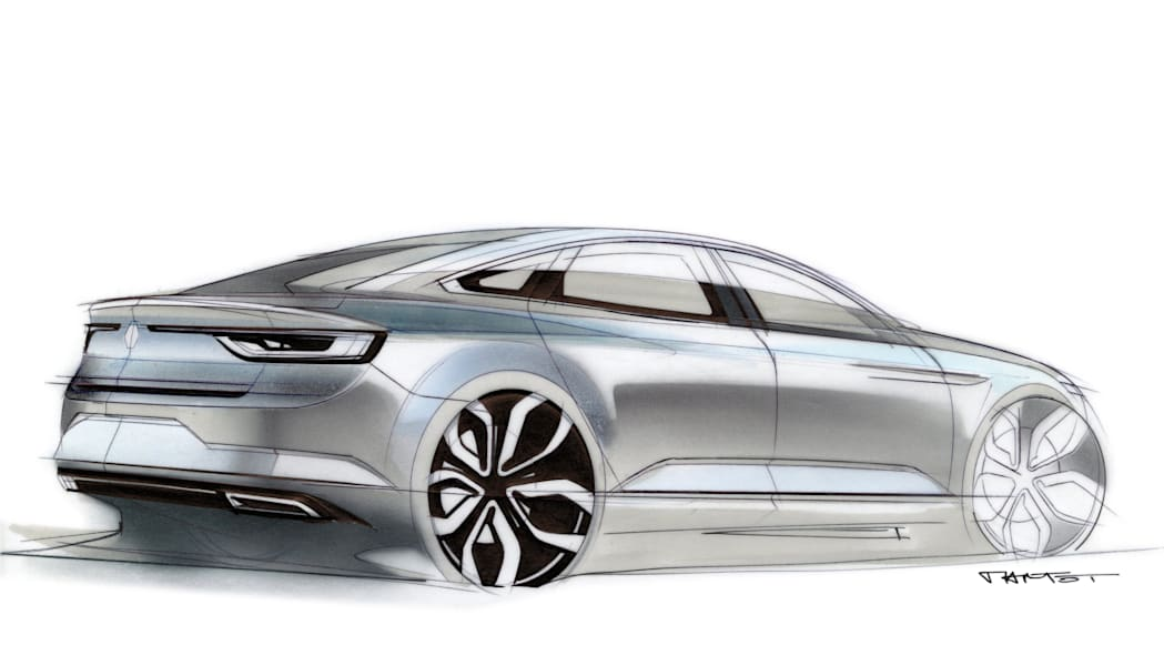 renault talisman sketch drawing detail design