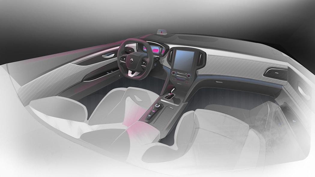 cabin interior sketch drawing renault talisman