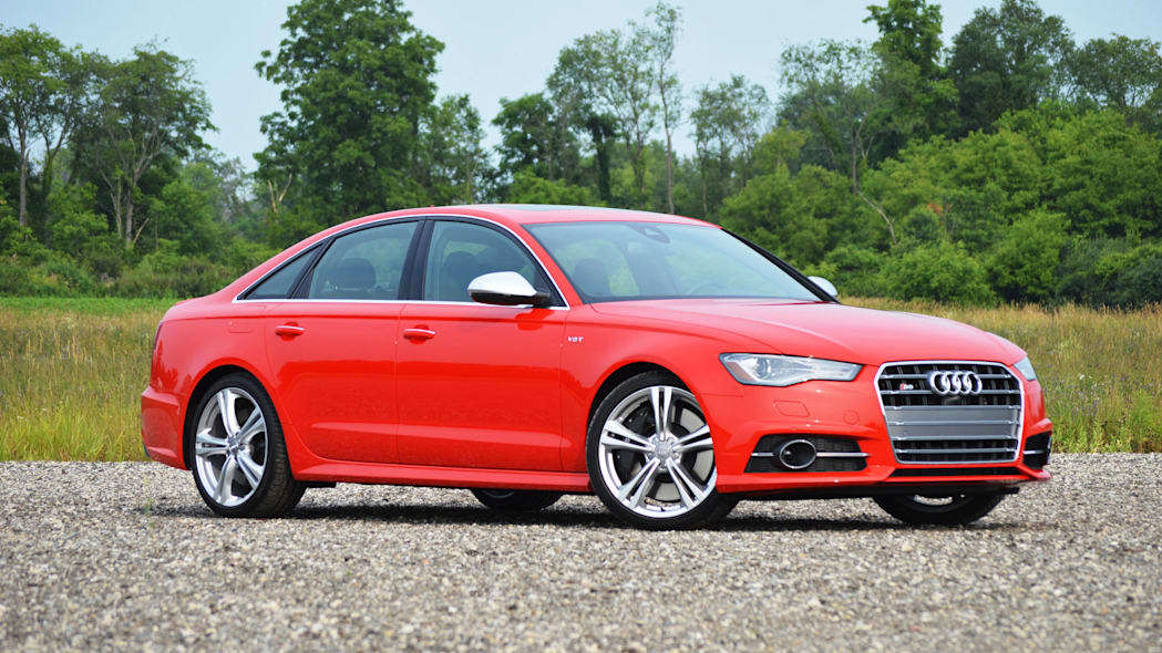 2016 audi s6 red front side view