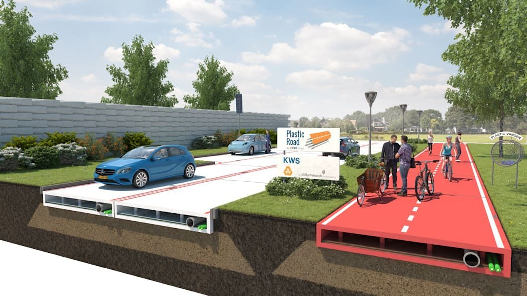 PlasticRoad would turn water bottles into long lasting roads