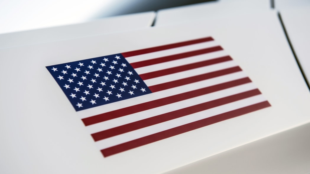 2015 ford mustang apollo edition flag decal
