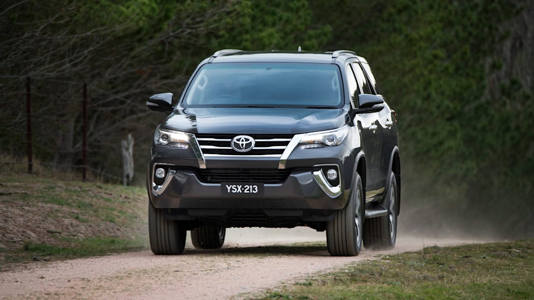 Toyota Fortuner SUV front moving