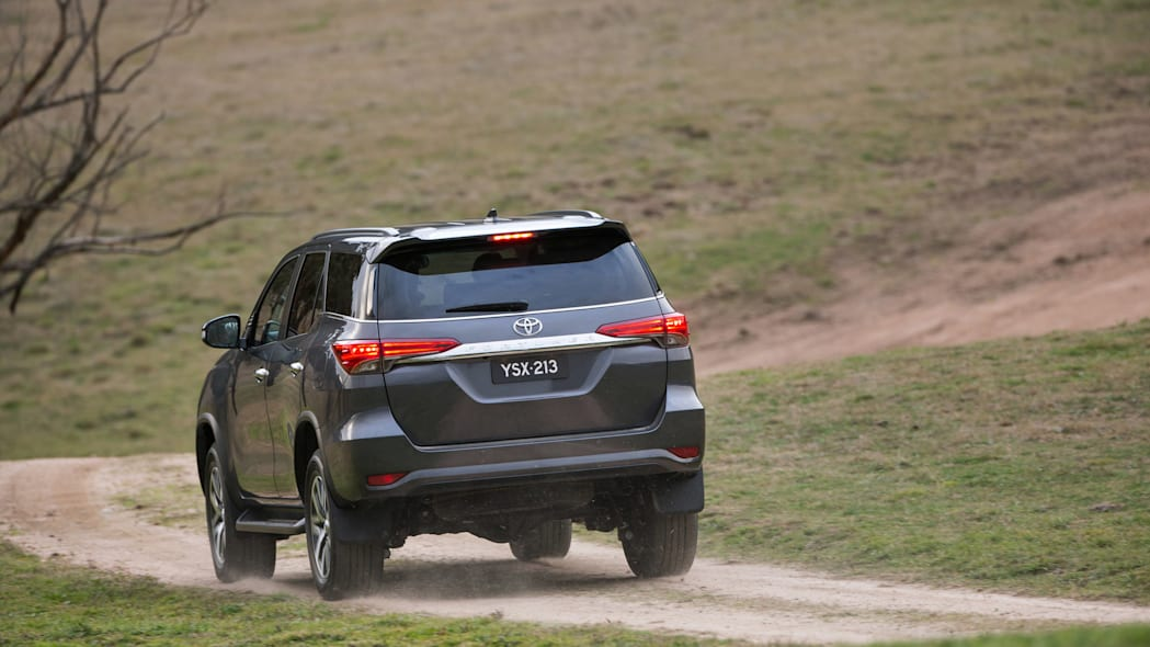 Toyota Fortuner SUV rear 3/4 moving