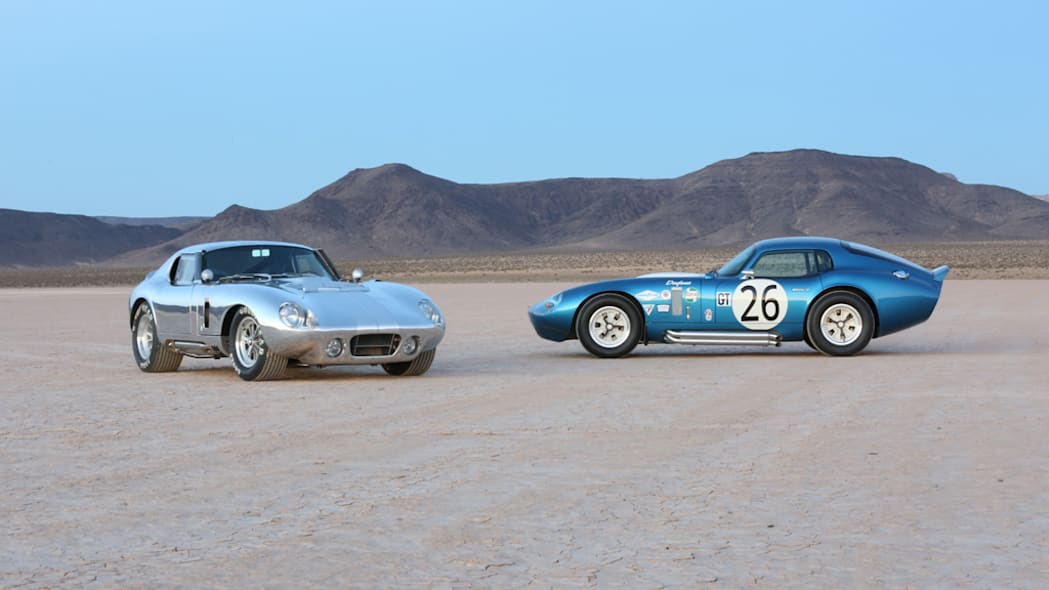The aluminum and fiberglass Shelby American Continuation Daytona Coupes.