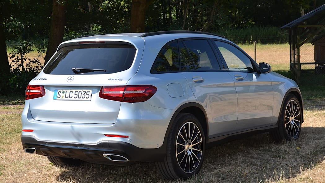 2016 Mercedes-Benz GLC250 rear 3/4 view