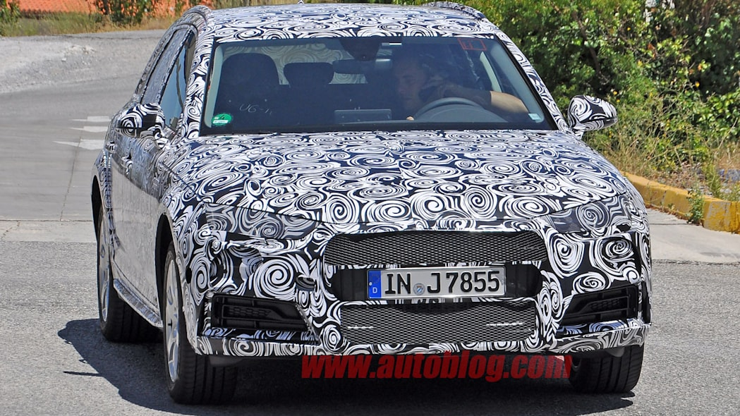 camouflaged audi a4 allroad spy shots design