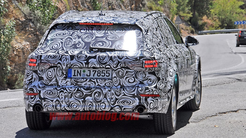 camouflaged audi a4 allroad spy shots taillights detail