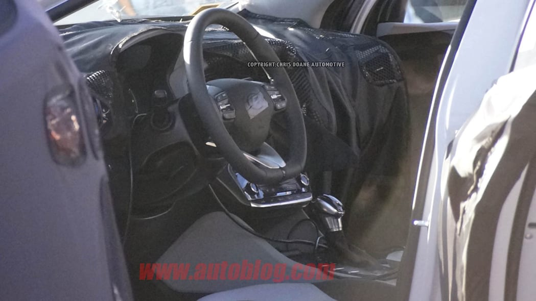 camouflaged hyundai prius-fighter spy shot interior