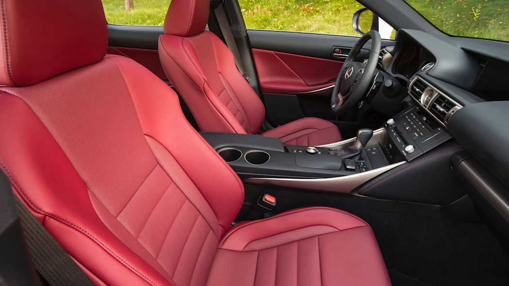 is 300 lexus cabin interior red leather