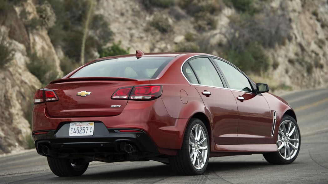 2015 Chevrolet SS rear 3/4 view