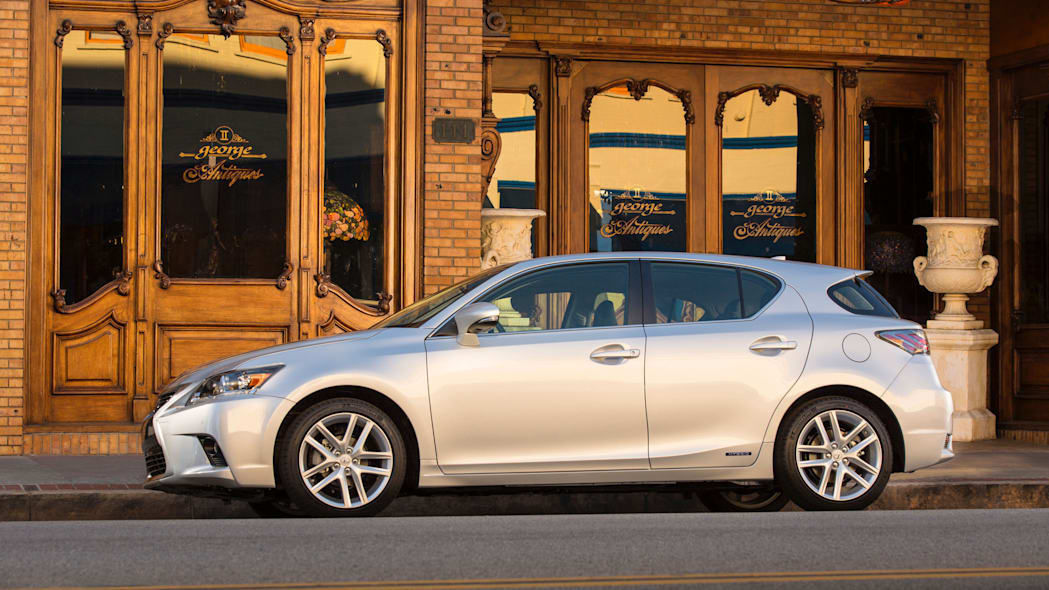 The 2016 Lexus CT 200h, side view.