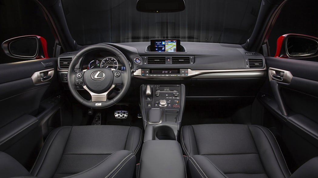 The 2016 Lexus CT 200h, interior.