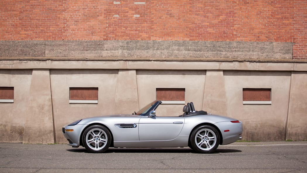 2001 BMW Z8 side roof down