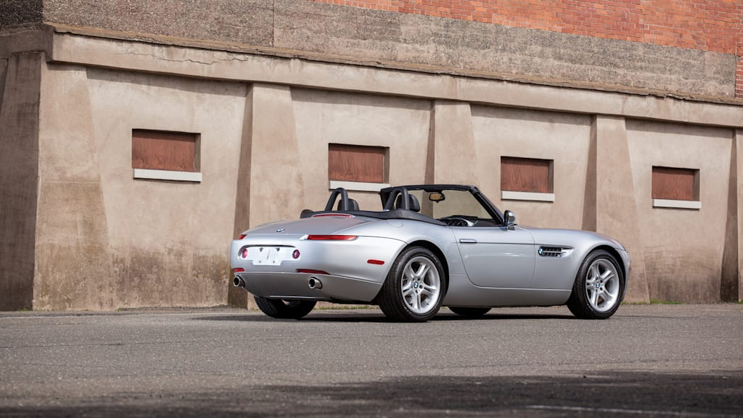 2001 BMW Z8 rear 3/4 roof down