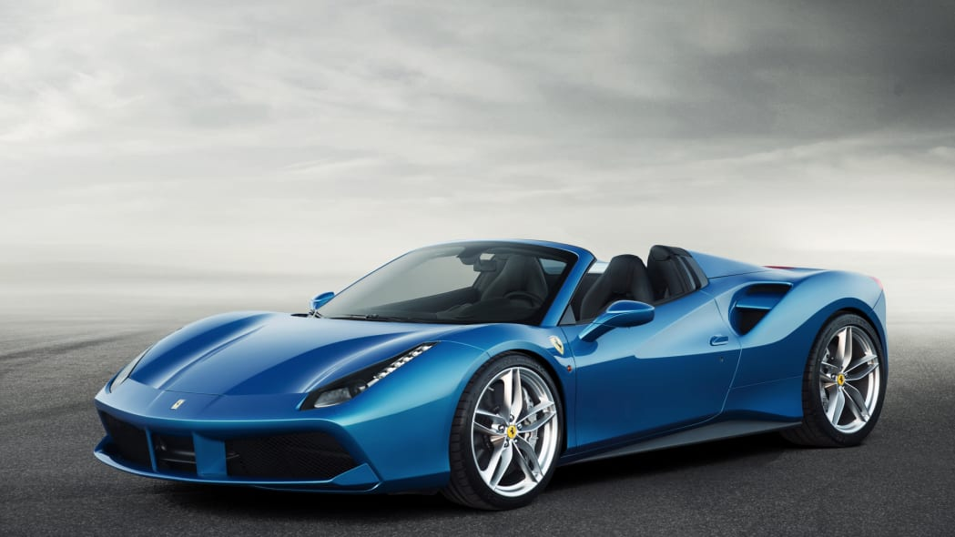 ferrari 2016 488 spider convertible blue