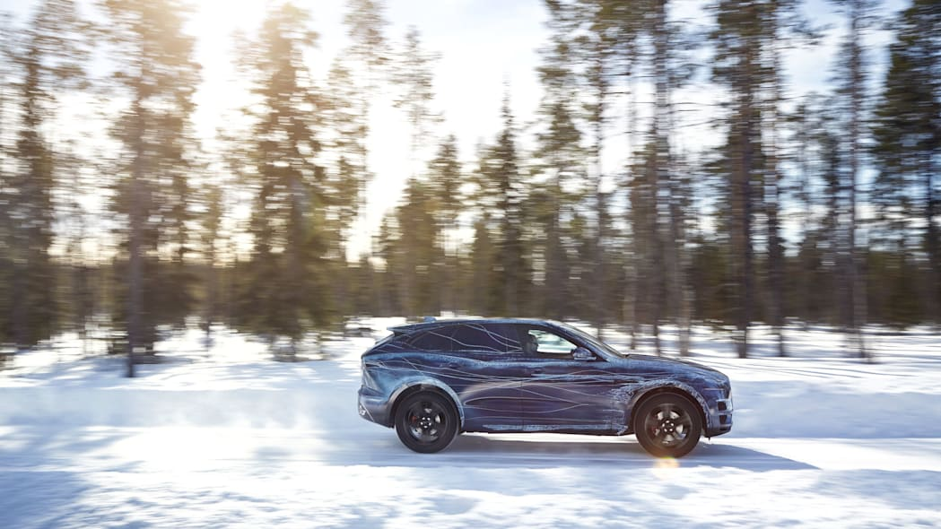Jaguar F-Pace cold weather testing side