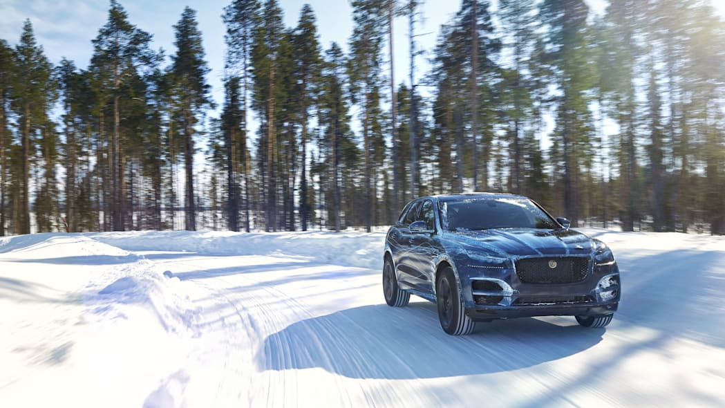 Jaguar F-Pace cold weather testing front