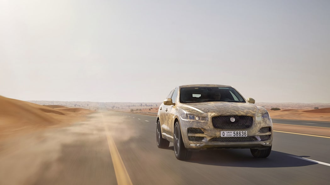 Jaguar F-Pace hot weather testing front 3/4