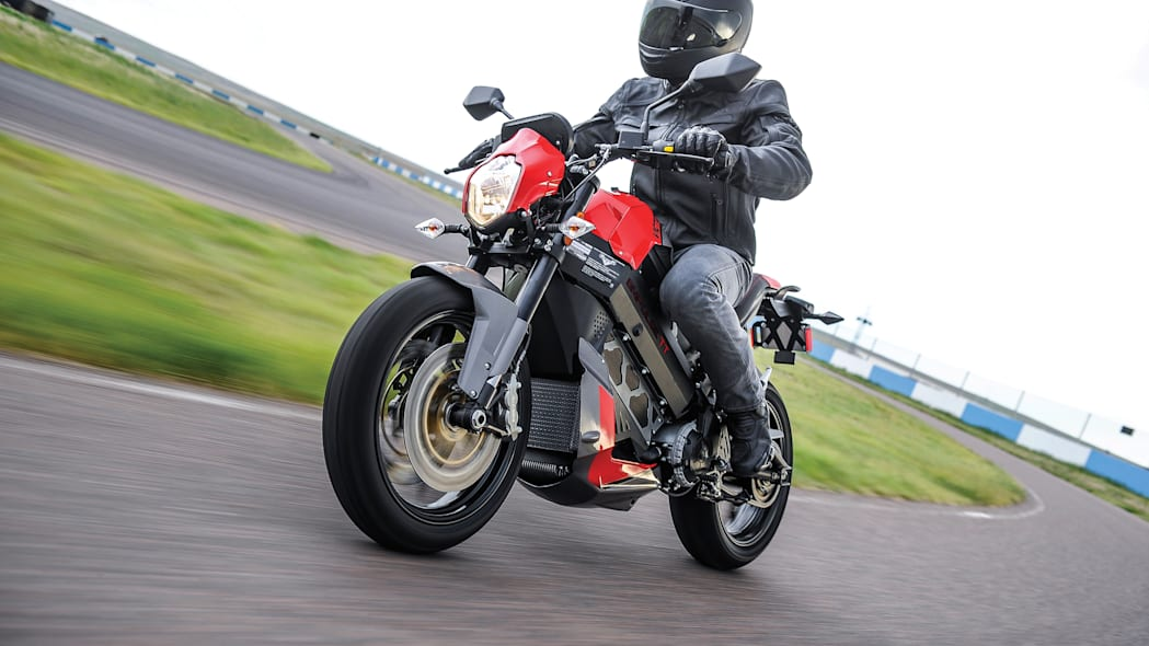 Victory Empulse TT front 3/4 electric motorcycle Brammo