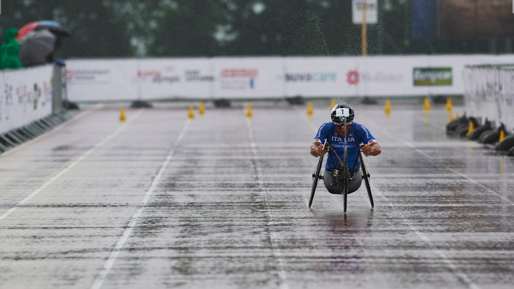 Alex Zanardi hand cycle