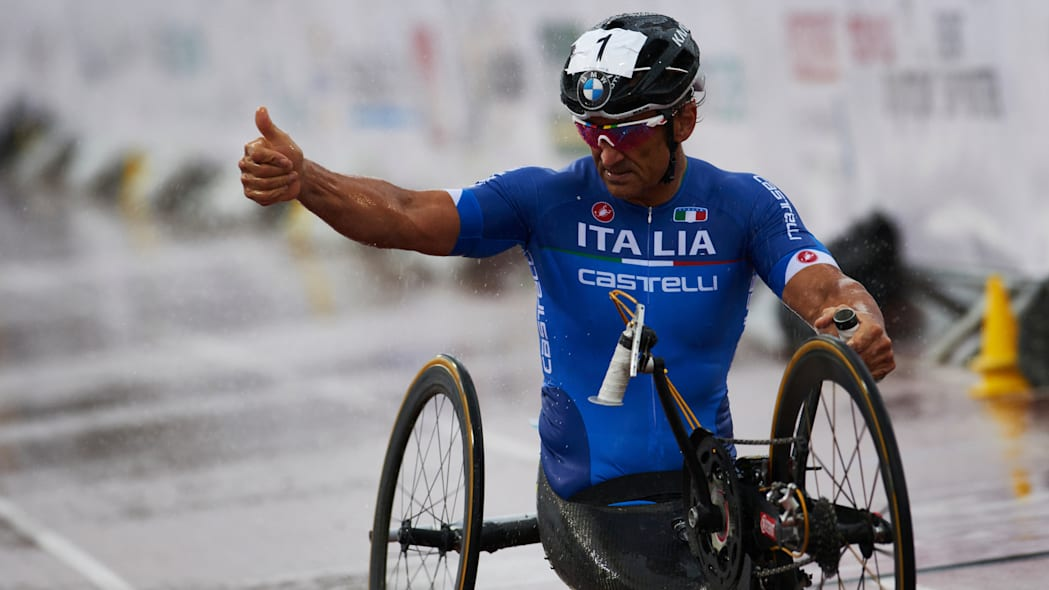 Alex Zanardi Team Italy hand cycle