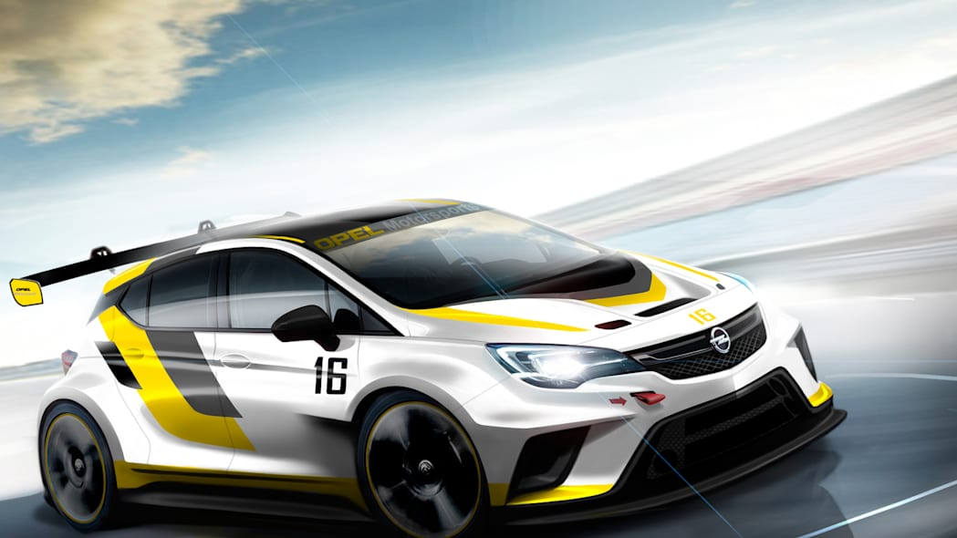 Opel Astra TCR rendering front 3/4