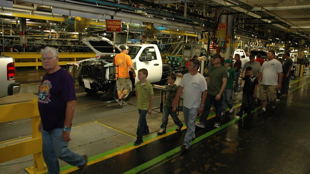 touring GM Flint Truck Assembly Plant