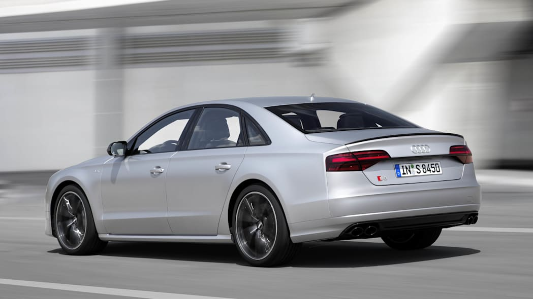 Audi S8 Plus rear 3/4 moving