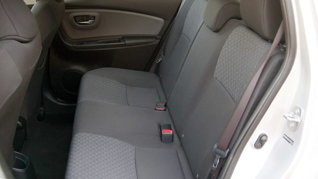 2015 Toyota Yaris rear seats