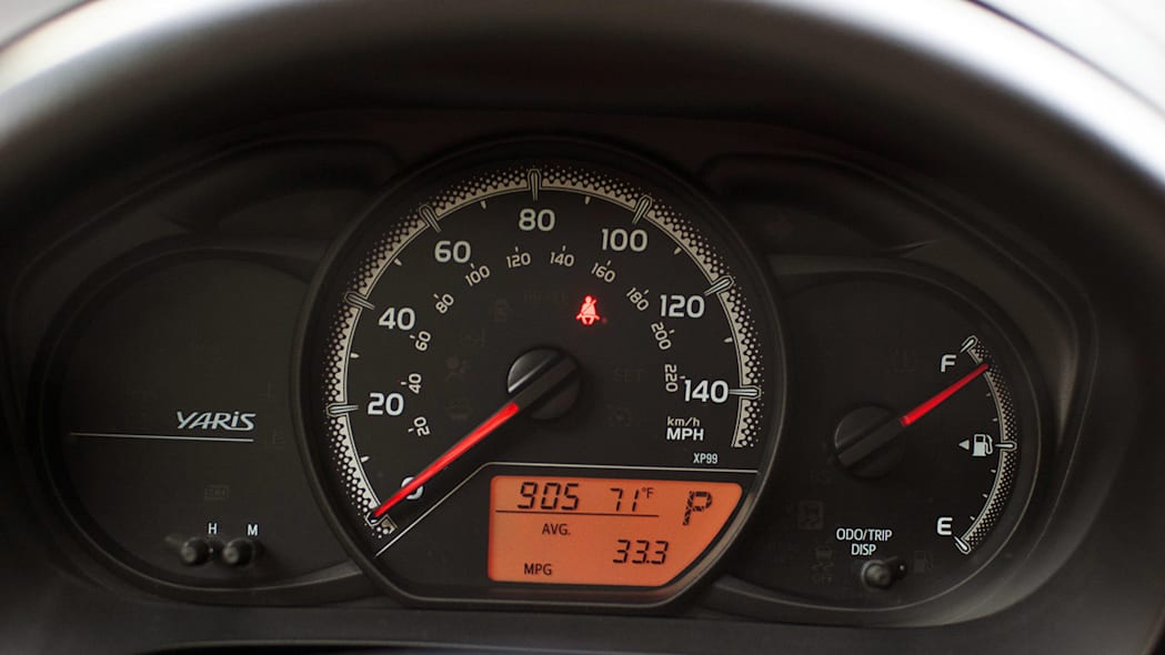 2015 Toyota Yaris gauges