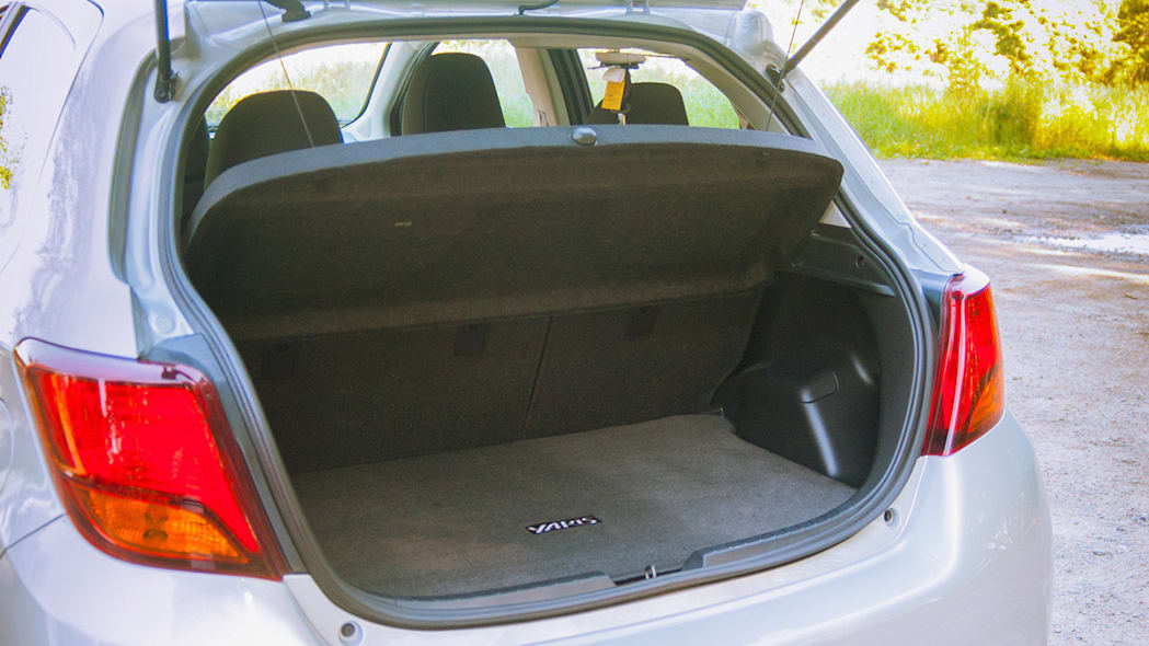2015 Toyota Yaris rear cargo area