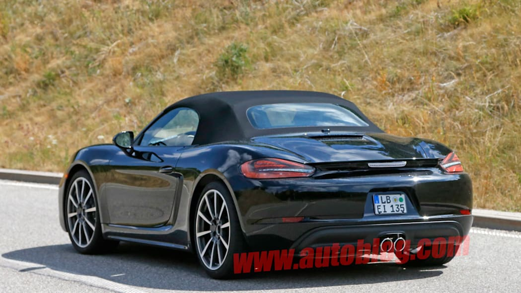 porsche boxster s taillights spoiler tailpipes convertible roof
