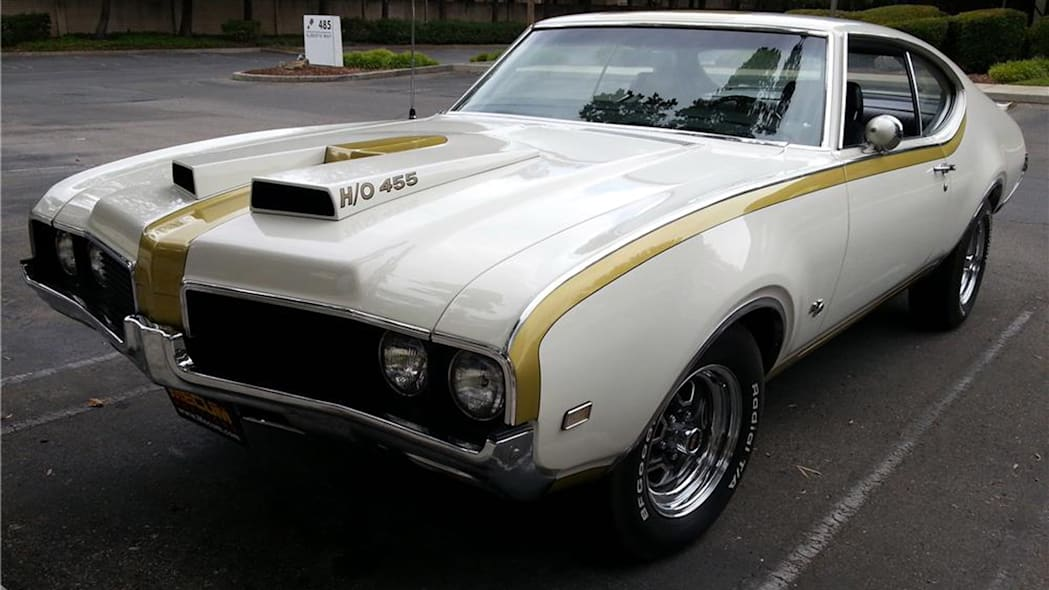 oldsmobile 455 hood scoops hurst olds auction