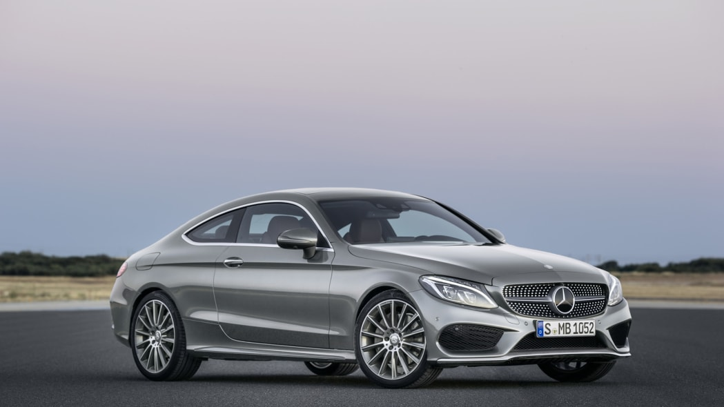 c-class coupe mercedes benz c300 front angle