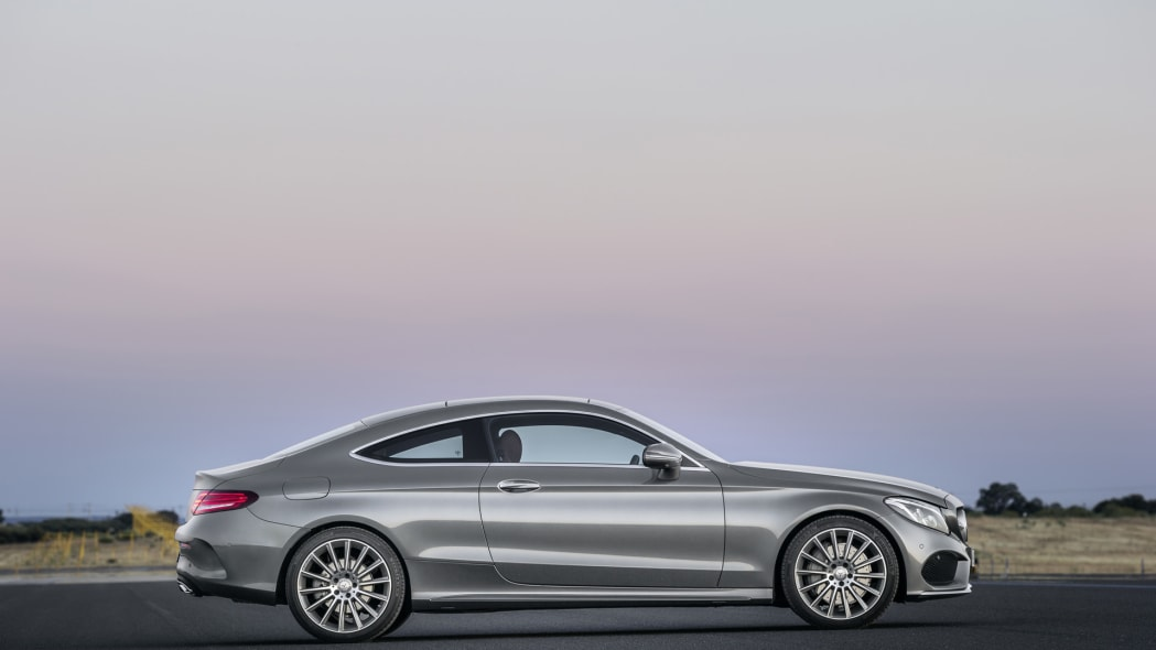 coupe profile sideview c300 mercedes c-class