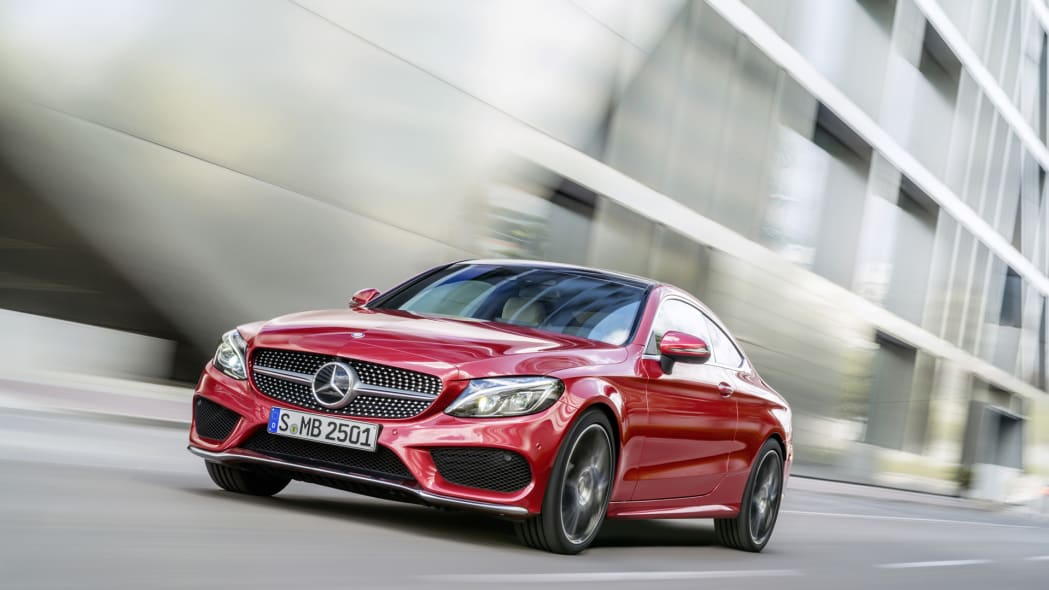 mercedes coupe c300 action red 2017