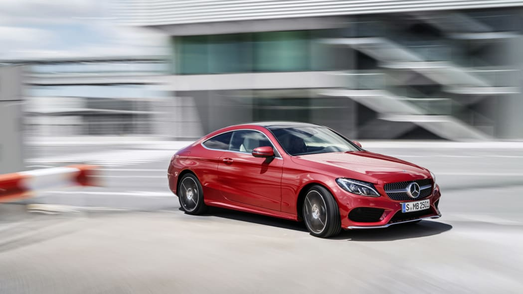 c300 c-class mercedes coupe 2017 turning action