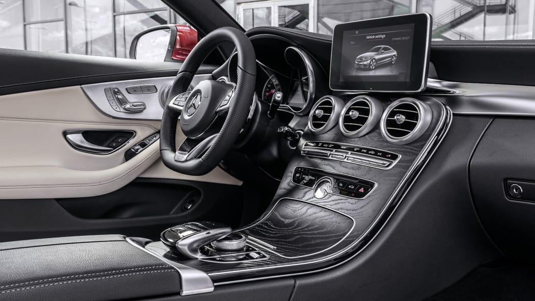 c-class coupe mercedes 2017 wood interior cabin
