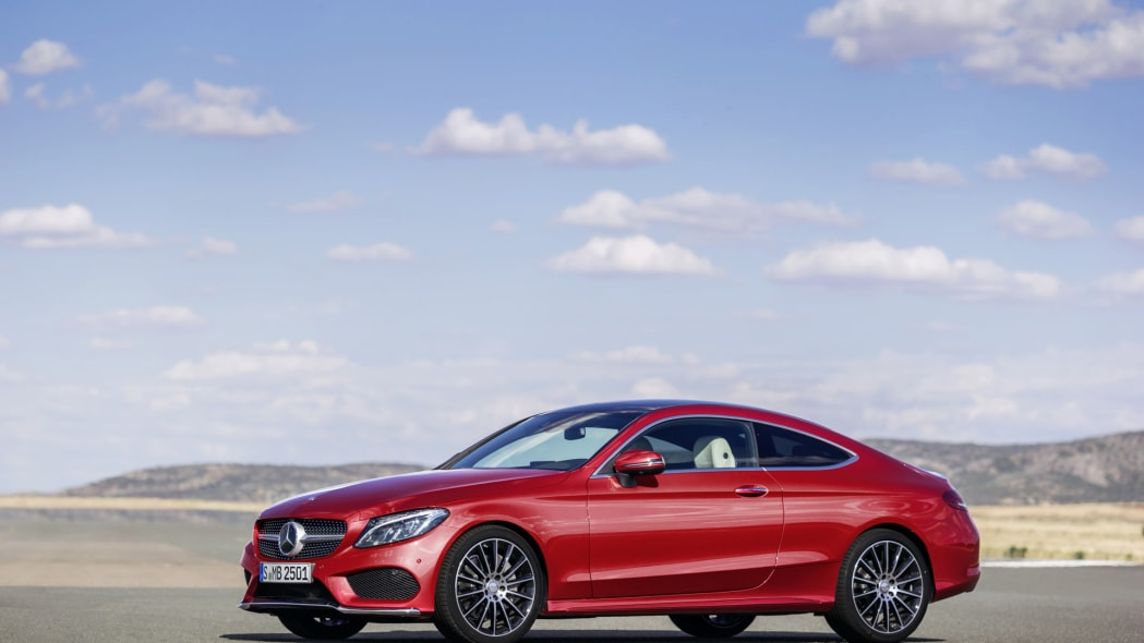 2017 c-class coupe c300 mercedes benz angle