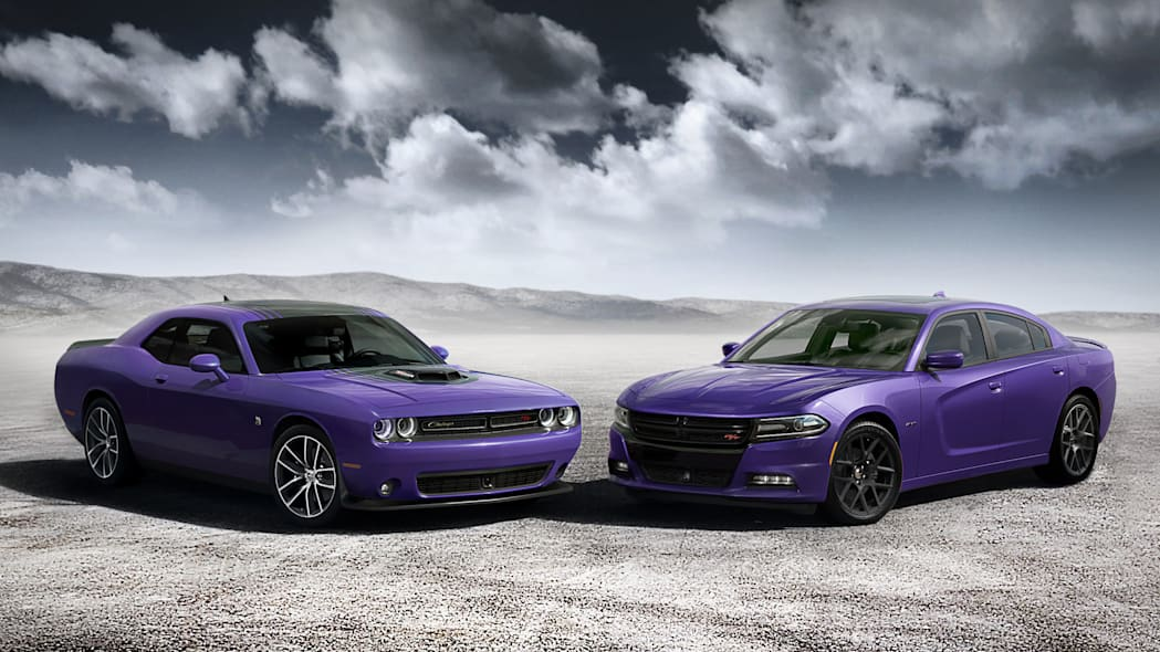 plum crazy 2016 dodge challenger and charger