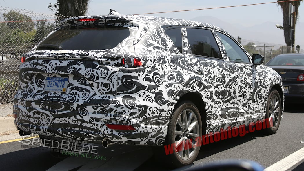 mazda cx-9 traffic rear lights camo spied