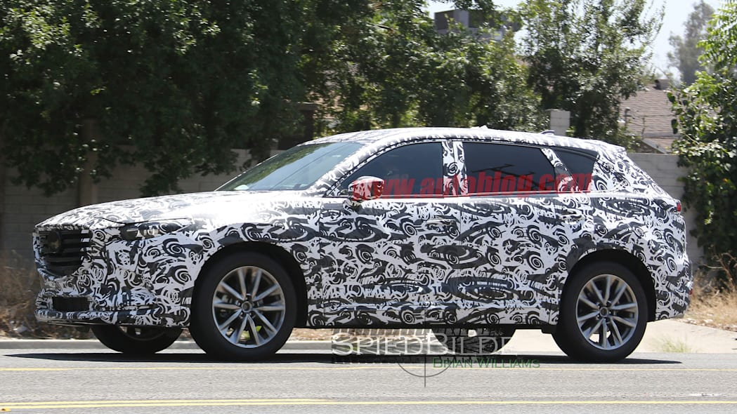spy mazda cx-9 prototype profile cuv
