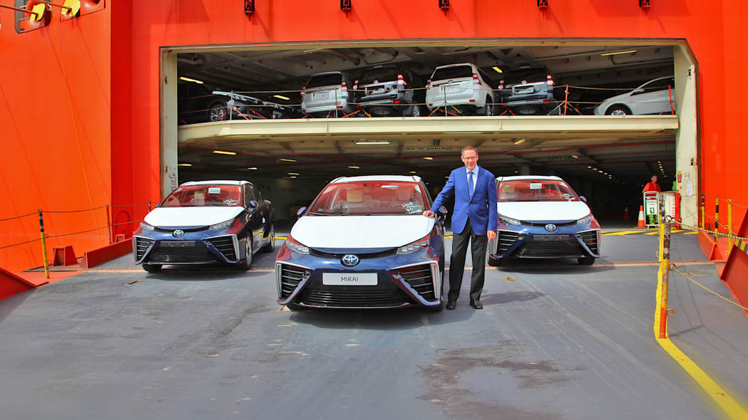 first toyota mirai examples delivered to europe