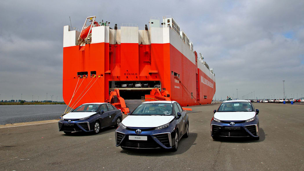 first toyota mirai examples off tanker in europe