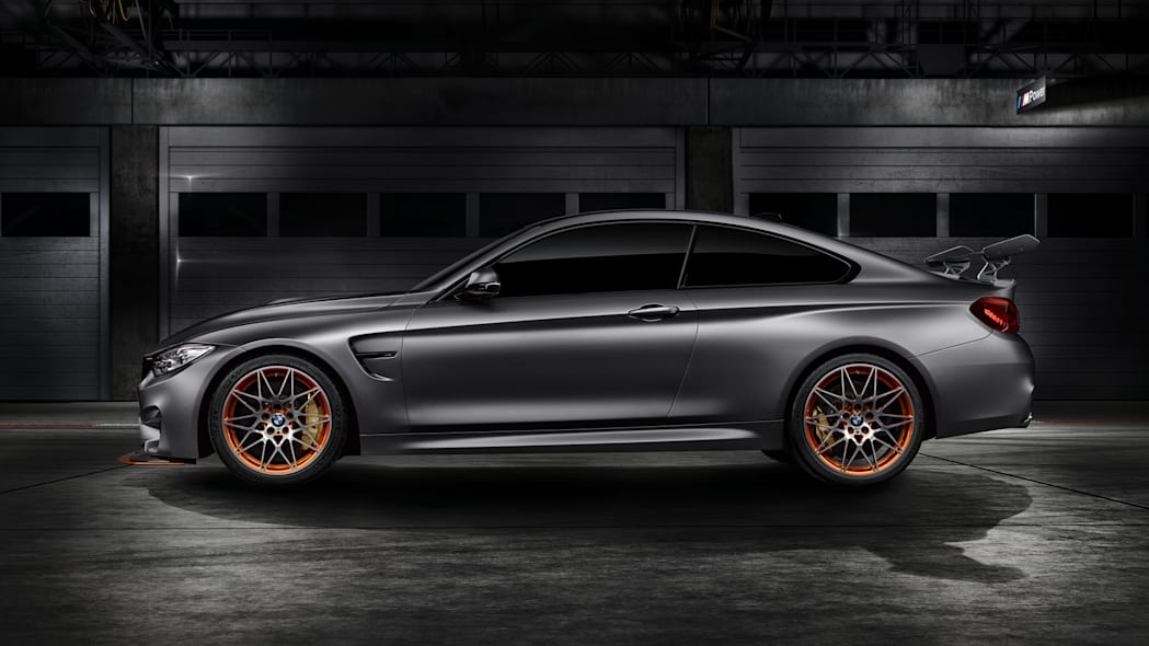coupe m4 concept wing wheels orange bmw