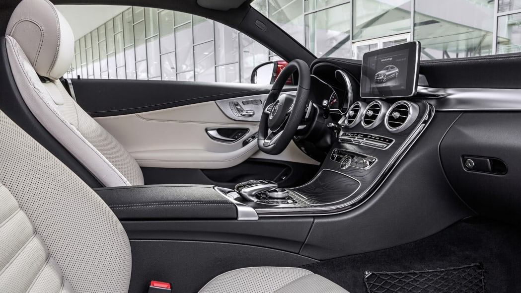 The 2016 Mercedes C-Class Coupe, interior AMG Line.
