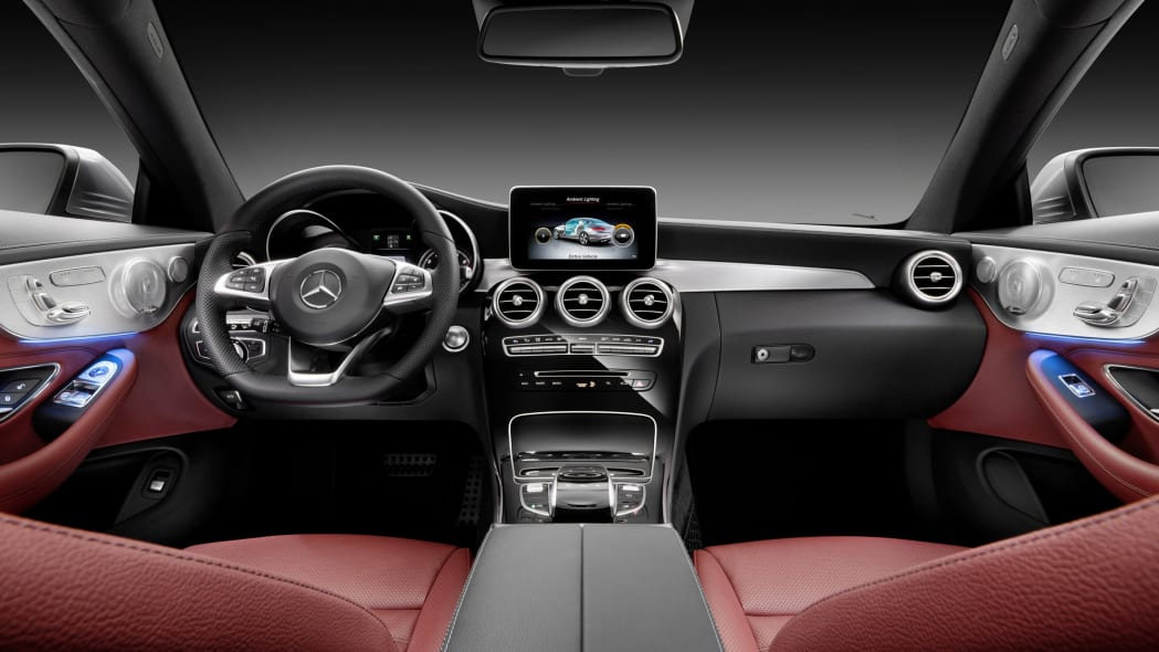 The 2016 Mercedes C-Class Coupe interior wide.