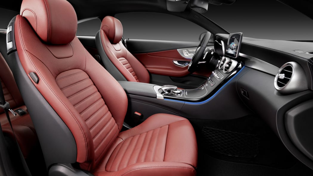 The 2016 Mercedes C-Class Coupe seats.
